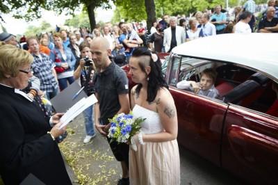 raggarbröllop, västerås