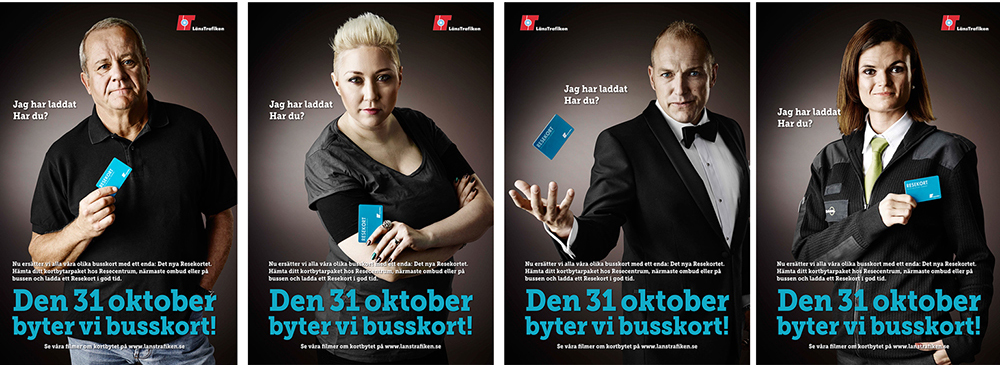 Länstrafiken, Örebro, busskort, annonsfotografering