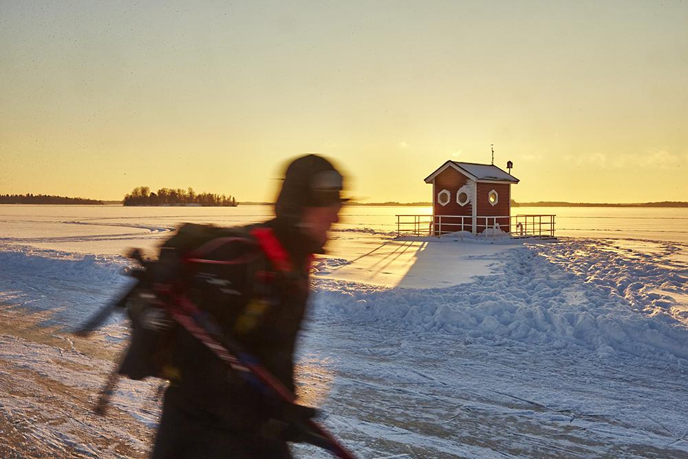 Skridskoåkning, Mälaren, Västerås