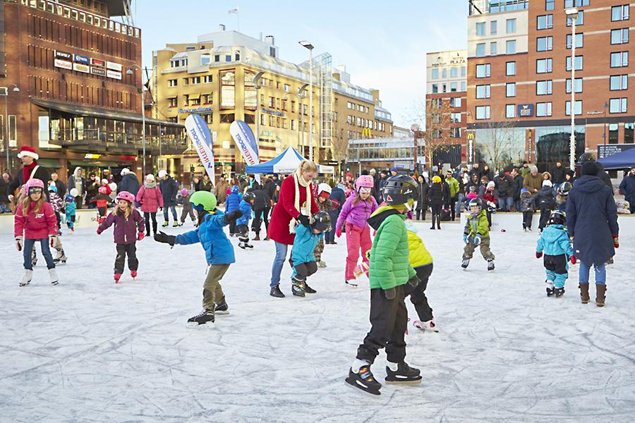Västerås, isbanan, ASEA torget