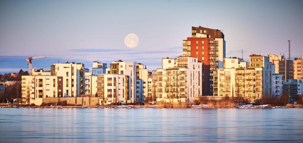 Västerås, månsken