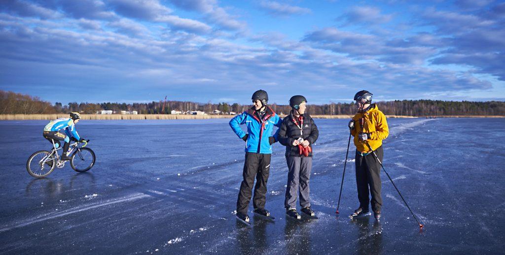 Mälaren, vinter, Västerås